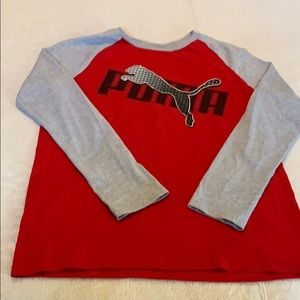 Puma boys long sleeve shirt